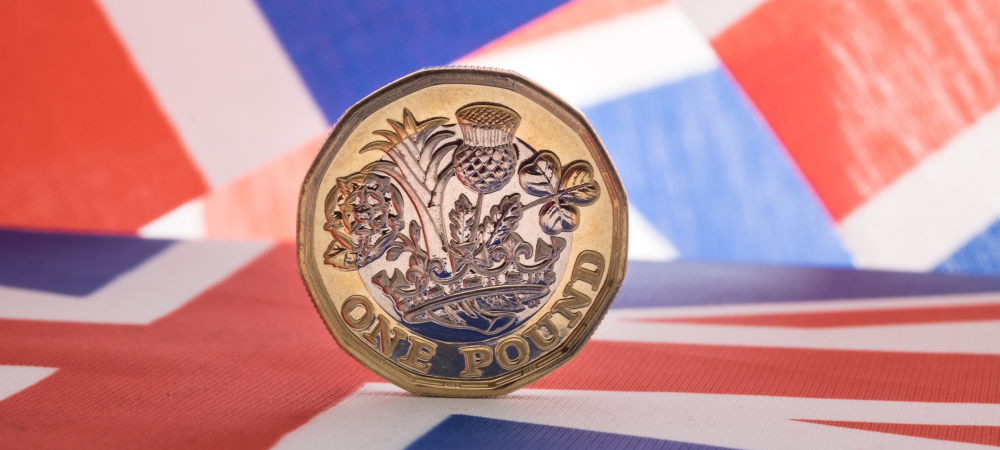 Pound Coin on Union Jack